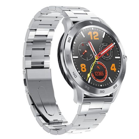 NEOGO SmartWatch DR98, chytré hodinky, stříbrné/kovové
