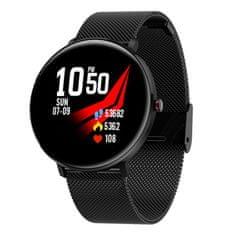 NEOGO SmartWatch LS10, smart hodinky, čierne/kovové