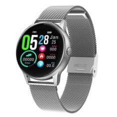 NEOGO DayFit D8, chytré hodinky, stříbrné/kovové