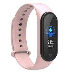 NEOGO SmartBand MS4, fitness náramek, růžový