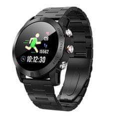 NEOGO SmartWatch SP10, smart hodinky, čierne/kovové