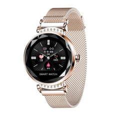 NEOGO SmartWatch Heart 2, dámske smart hodinky, zlaté