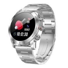 NEOGO SmartWatch SP10, smart hodinky, strieborné/kovové