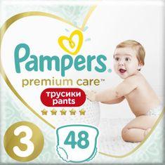 Pampers hlačne plenice Premium Care Pants 3 (6-11 kg) Midi 48 kosov