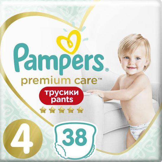 Pampers Plenkové kalhotky Premium Care Pants 4 (9-15 kg) Maxi 38 ks