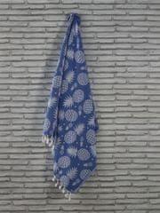 Denizli Concept Plážová osuška ANANAS (modrá)