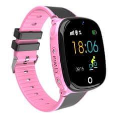 NEOGO SmartWatch AW11, chytré hodinky pro děti, růžové