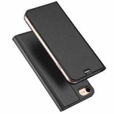Dux Ducis Skin Pro knížkové kožené pouzdro pro iPhone 7/8/SE 2020, tmavo šedé