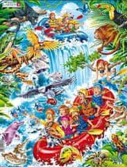 LARSEN Puzzle Raft na Amazonce 35 dílků