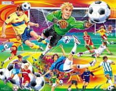LARSEN Puzzle Fotbal - soccer 65 dílků