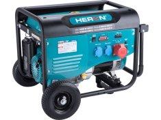 Heron Elektrocentrála benzínová 13HP/6,0kW (400V), 2x2,2kW (230V), podvozek