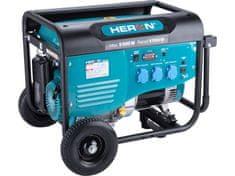 Heron Elektrocentrála benzínová 5,5kW/13HP, pro svařování, podvozek