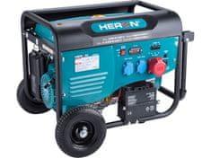 Heron Elektrocentrála benzínová 13HP/6,0kW (400V), 2x2,2kW (230V), elektrický start, podvozek