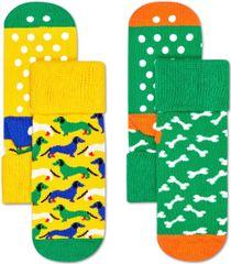 Happy Socks dětské ponožky 2-Pack Dog Anti-Slip Socks