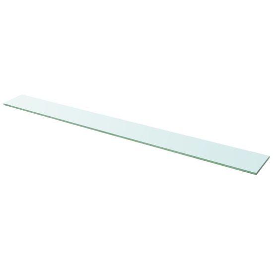 Poličkový panel z priehľadného skla, 110x12 cm