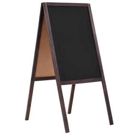 Dwustronna tablica kredowa, stojąca, drewno cedrowe, 40 x 60 cm