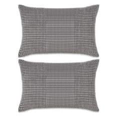 2-częściowy zestaw poduszek z weluru w kolorze szarym 40x60 cm