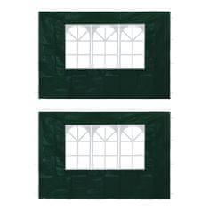 Bočné steny na párty stan 2 ks zelené s okienkom