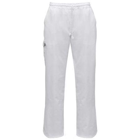 shumee Kuharske hlače 2 kosa raztegljiv pas z vrvico velikost S bele