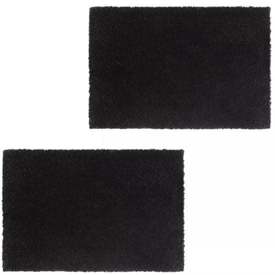 Rohožky, 2 ks, kokosové vlákno, 24 mm, 40x60 cm, čierne
