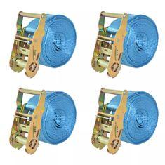 Taśmy mocujące z napinaczami, 4 szt., 2 T, 6m x 38mm, niebieski