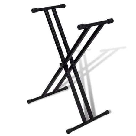 shumee Prilagodljivo stojalo za klaviature z X okvirjem