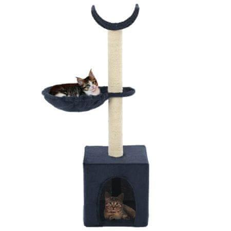 shumee kék macskabútor szizál kaparófákkal 105 cm