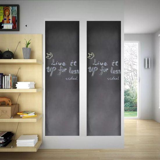 shumee Nalepovací černá tabule na stěnu, 2 role 0,6 x 3 m + křídy