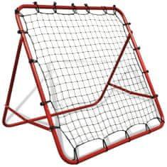 shumee Nastaviteľná futbalová bránka s odrazovou sieťou, 100 x 100 cm