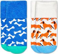 Happy Socks chlapecké ponožky 2-Pack Dog Terry Socks