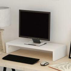 shumee Stojan na monitor z drevotriesky, 60x23,5x12 cm, biely