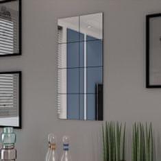 shumee Zrcadlové dlaždice bez rámu sklo 8 ks 20,5 cm