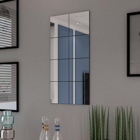 shumee Steklene Zrcalne Ploščice Brez Okvirja 8 Kosov 20,5 cm