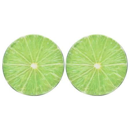 Poduszki z nadrukiem limonki, 2 szt.