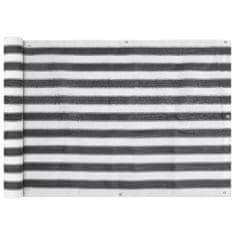 shumee balkon napellenző HDPE 75x600 cm Antracit és fehér
