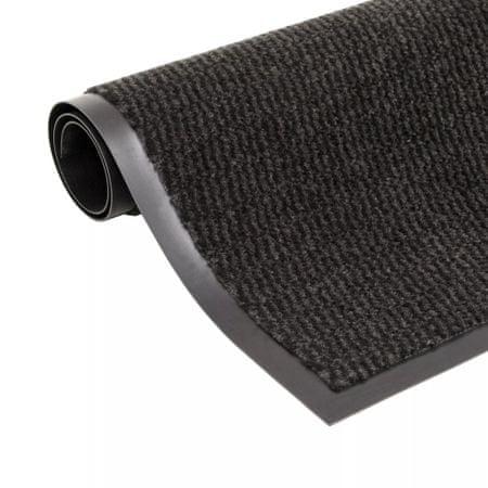 shumee négyszögletes szennyfogó szőnyeg 60 x 90 cm fekete