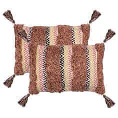 2 poduszki, 40x60 cm, styl boho, wielokolorowe