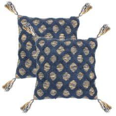 2 poduszki, 45x45 cm, styl boho, wielokolorowe