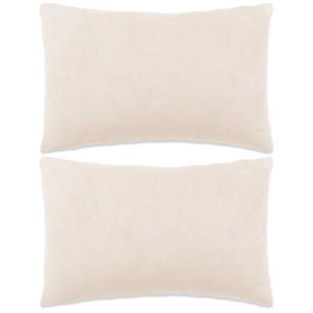 shumee Zestaw 2 poduszek z weluru w kolorze złamanej bieli 40 x 60 cm
