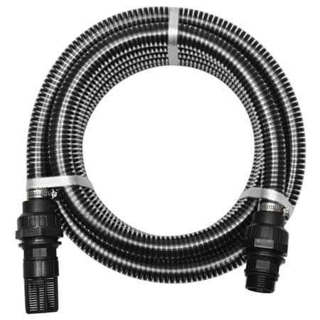 shumee fekete szívótömlő csatlakozókkal 4 m 22 mm