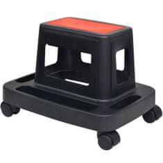 shumee Pojízdná dílenská stolička s úložným prostorem 150 kg