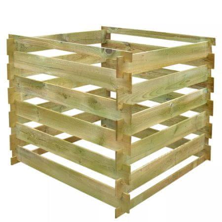 shumee Kompostownik z listew 0,54 m3, kwadratowy, drewno