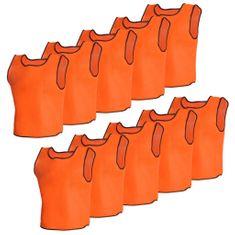 shumee 10 ks oranžové športové dresy pre dospelých
