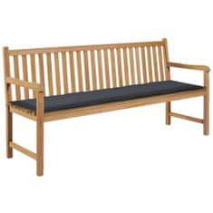shumee Sedák na záhradnú lavičku, antracitový, 180x50x3 cm