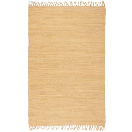 shumee bézs, kézzel szőtt pamut Chindi szőnyeg 120 x 170 cm