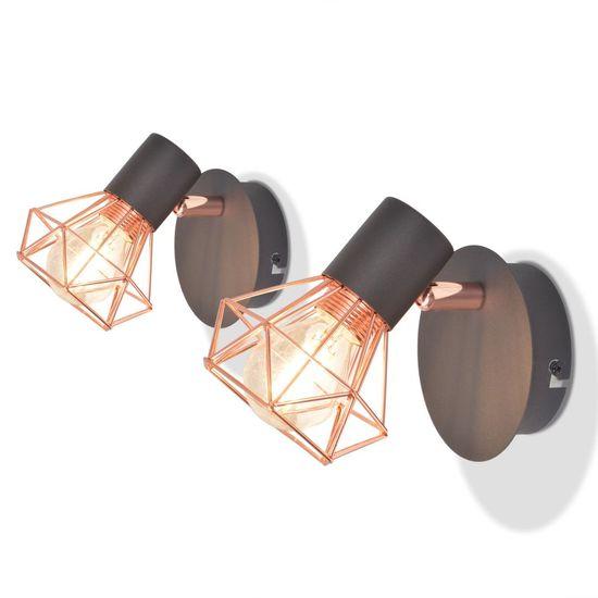 Nástenné svietidlá s 2 vláknovými LED žiarovkami, 2 ks, 8 W