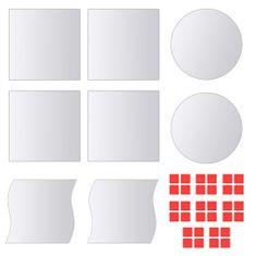 Vidaxl Zrcadlové dlaždice, 8 ks, různé tvary, sklo