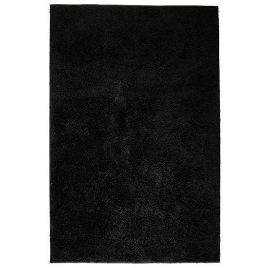 Vidaxl Kusový koberec s vysokým vlasem Shaggy 80 x 150 cm černý