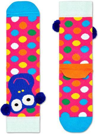 Happy Socks Monkey Sock lány zokni, 33 - 35, rózsaszín