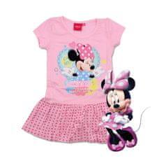 SETINO Dětské šaty Minnie s krátkým rukávem - růžová